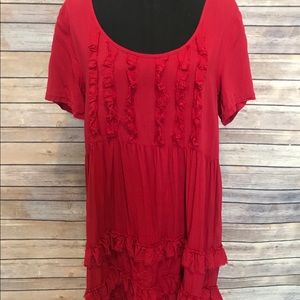 Altar'd State red ruffle dress
